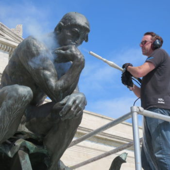 Outdoor Sculpture Conservation In Cleveland & Dry Ice CO2 Blasting In Art Conservation