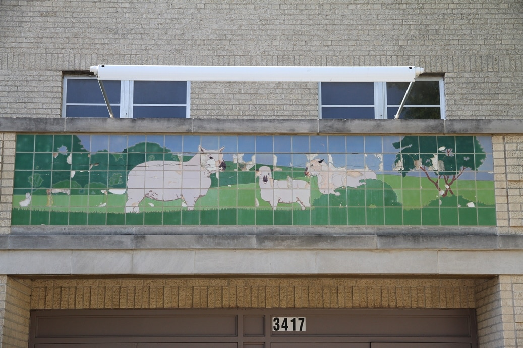 Fort Worth Tile Mural - Public Art Conservation McKay Lodge Conservation Laboratory