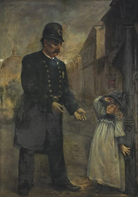 Paintings Conservation Donated To The Cleveland Police Museum