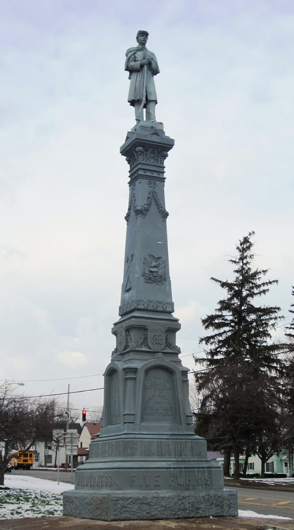 Another Concrete Filled Zinc Monument Saved!