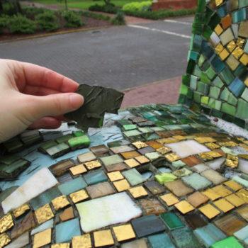 Mosaic Conservation Treatment Of Ned Smyth Artwork In Savannah, Georgia