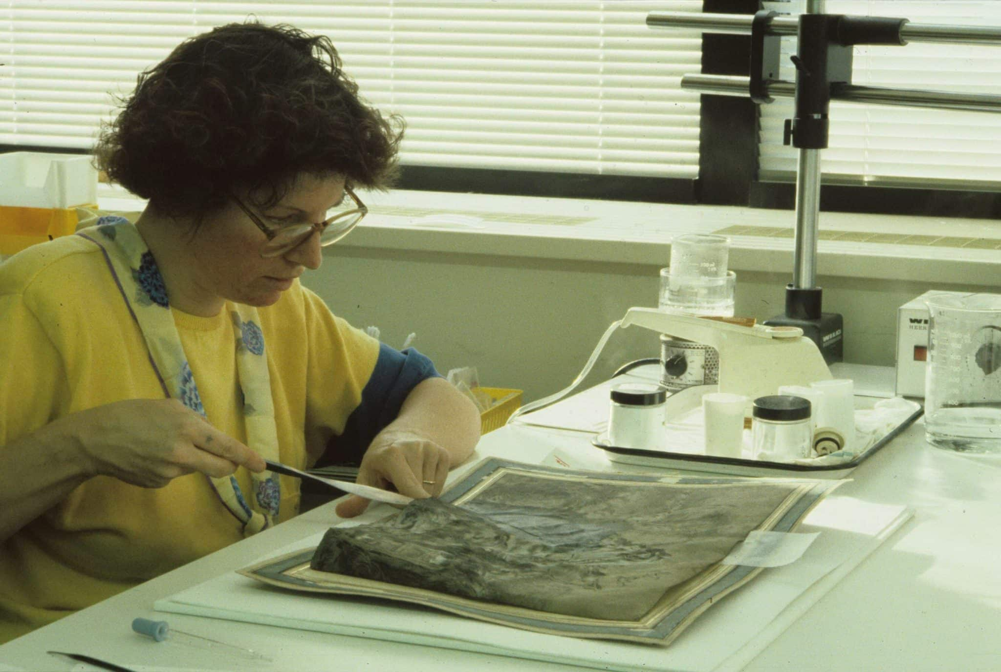 Gina McKay Lodge, Conservator of Paper, Intermuseum Conservation Laboratory