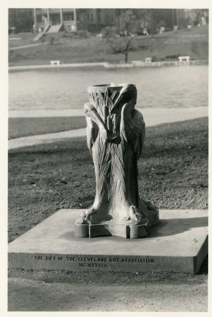 1. Original 1928 - Cleveland Museum of Art McKay Lodge Conservation Heron Drinking Fountain Reproduction