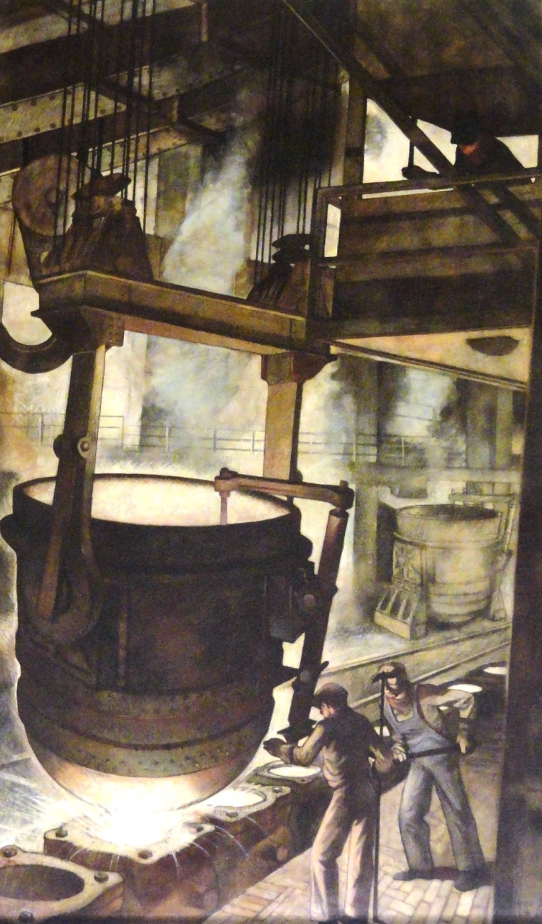Canton Ohio Steel Industry Mural Conservation by McKay Lodge Conservation Laboratory