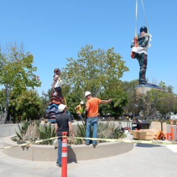 Painted Outdoor Sculpture Conservation – Jimenez Sculpture Returns To The Border