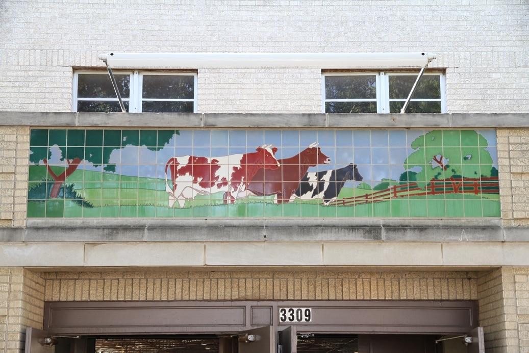Fort Worth Tile Mural - Public Art Conservation McKay Lodge Conservation Laboratory