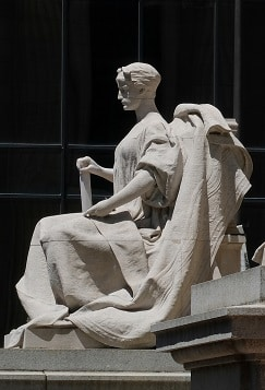 Birch Bayh Federal Building Marble Sculptures Get A Stone Conservation Cleaning