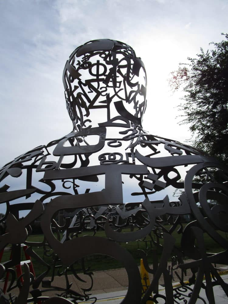 Corrosion Treatment Of Stainless Steel Outdoor Sculpture By Jaume Plensa