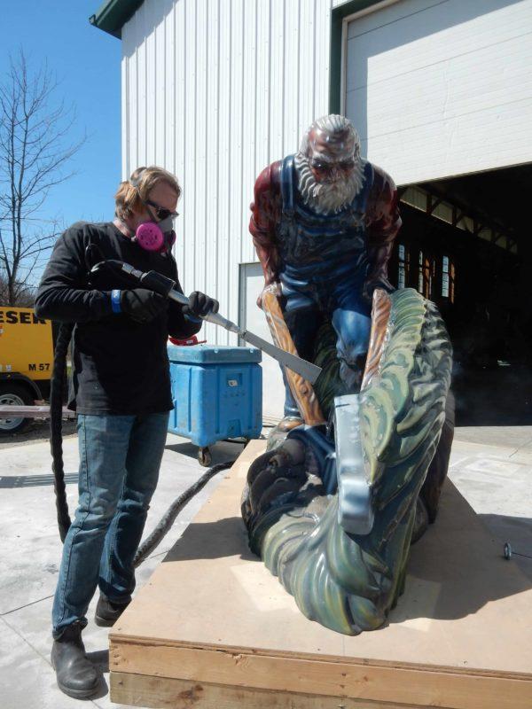 Conservation Treatment Of Luis Jiménez Sculpture: Sodbuster In-Progress