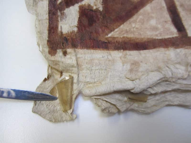 Conservation Treatment Of Tapa Cloth