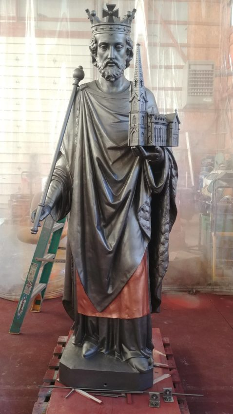 Restoration Of Religious Statuary, Saint Edward Confesses He's Never Looked Better