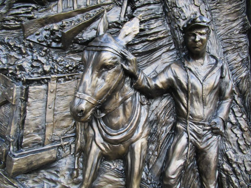 Maintenance Of A Bronze  Memorial: Conservator Born A Coal Miner's Granddaughter