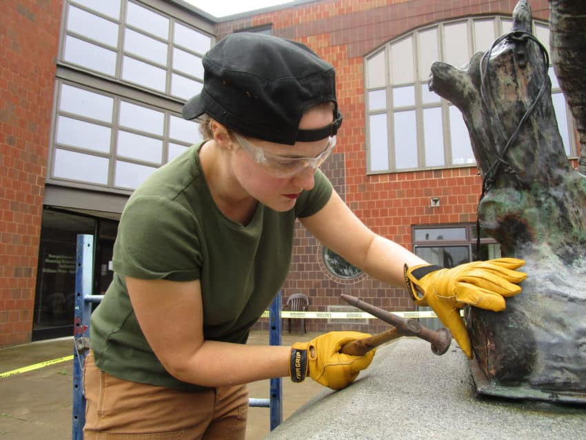 World War I Doughboy Conservation Treatment In Pennsylvania
