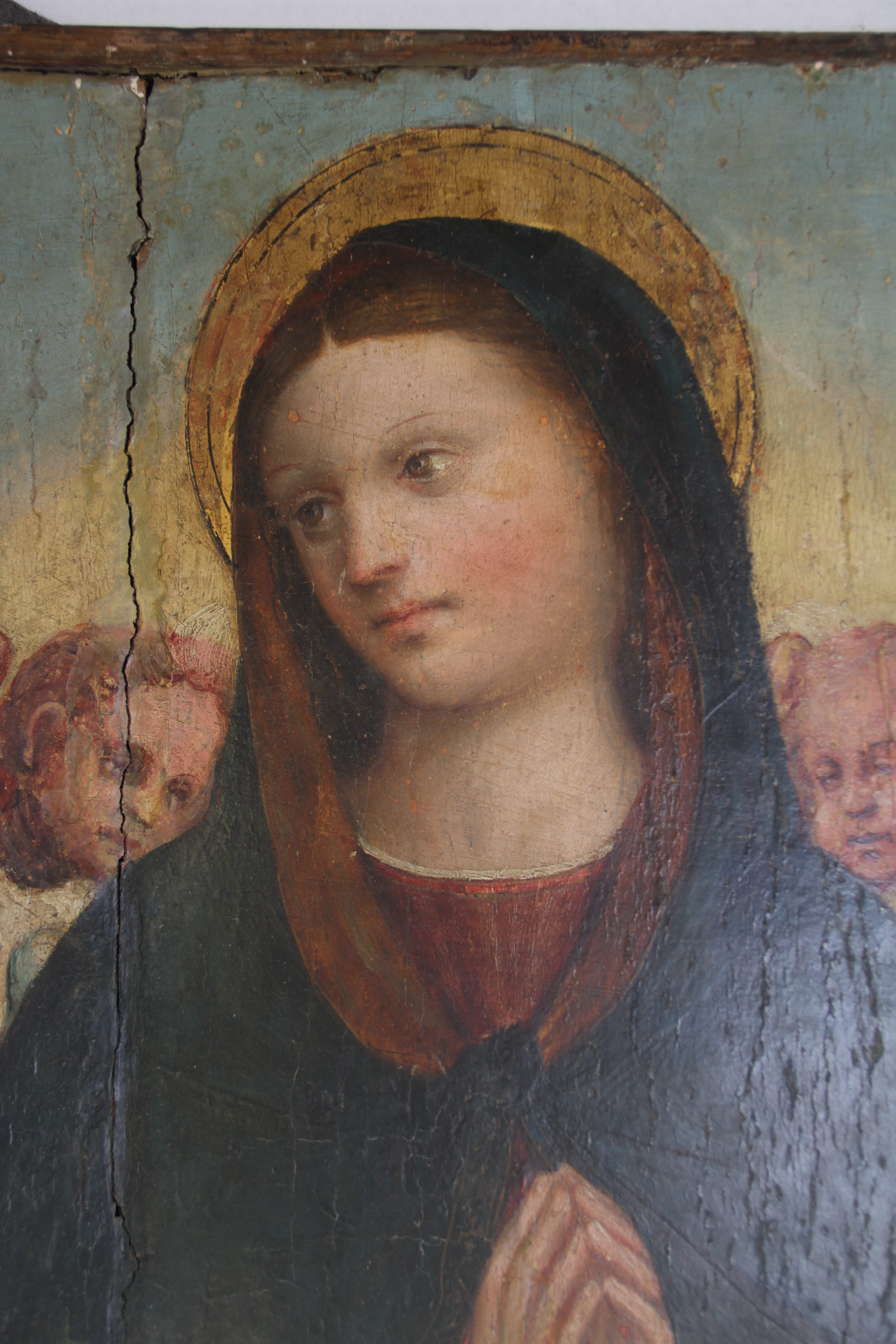 Old Master Paintings Conservation: Assumption Of The Madonna
